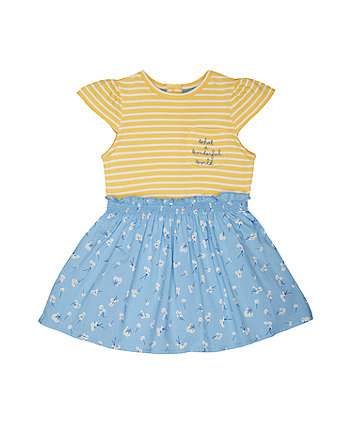 Mothercare Stripes And Daisies Twofer Dress