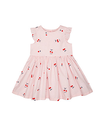 Mothercare Pink Cherry Woven Dress
