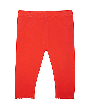 Mothercare Red Crochet Frill Leggings