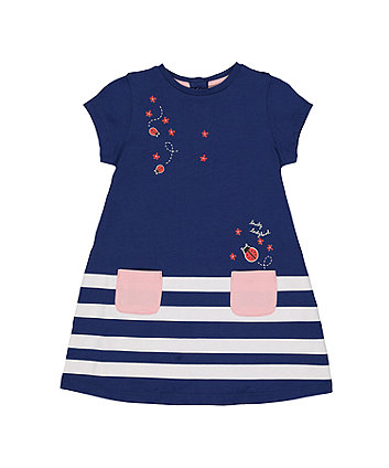 Navy Ladybird Dress
