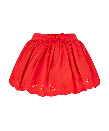 Mothercare Red Broderie Skirt
