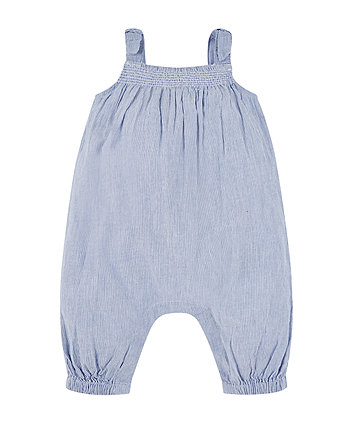 Mothercare Ticking Stripe Jumpsuit