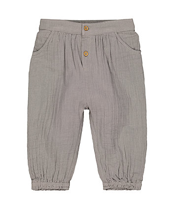 Mothercare Grey Woven Trousers