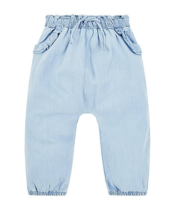 Mothercare Light Wash Denim Trousers