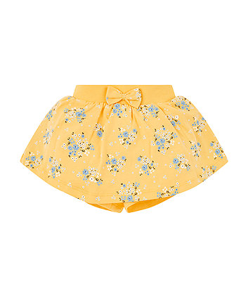 Yellow Floral Skort