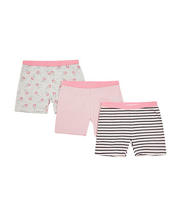 Mothercare Ballerina Shorts - 3 Pack
