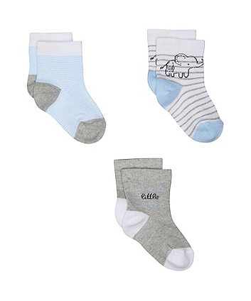 Mothercare Elephant Socks - 3 Pack