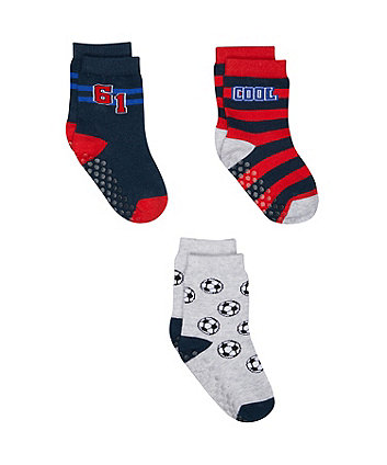 Mothercare Football Socks - 3 Pack