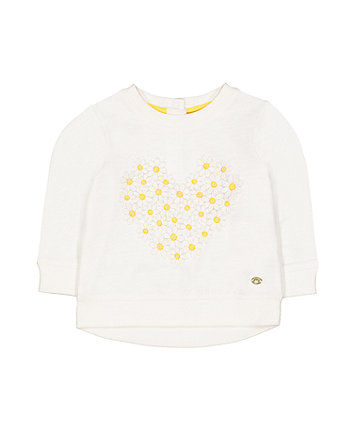 Mothercare White Flower Sweat Top