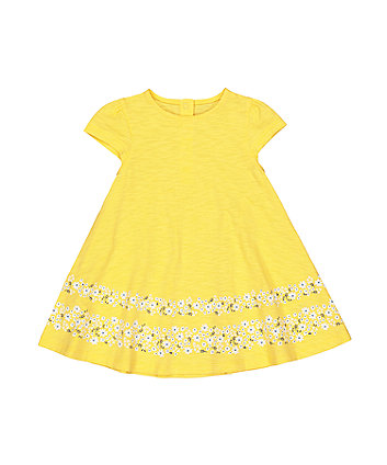 Yellow Floral Border Dress