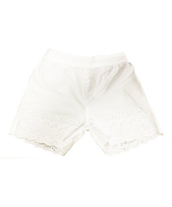 Mothercare White Broderie Shorts