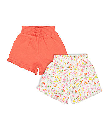 Neon Floral Shorts - 2 Pack