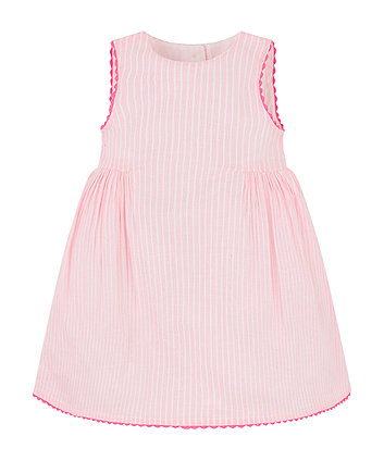 Mothercare Pink Stripe Pique Dress
