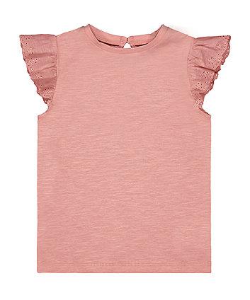 Pale Pink Broderie Vest