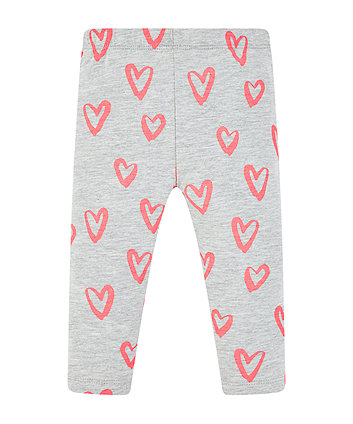 Neon Heart Leggings