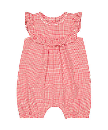 Mothercare Red Gingham Romper