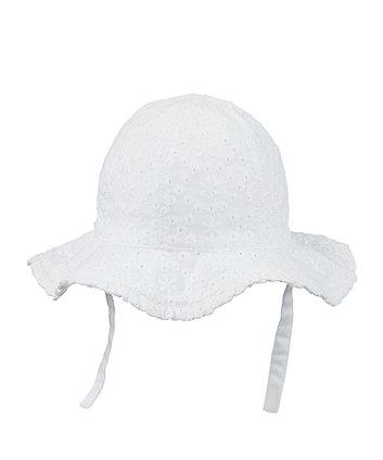 White Broderie Sun Hat