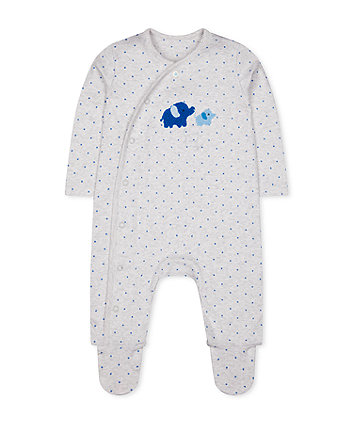 Mothercare My First Grey Elephant Star All In One
