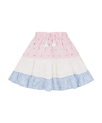 Mothercare Patchwork Tiered Skirt
