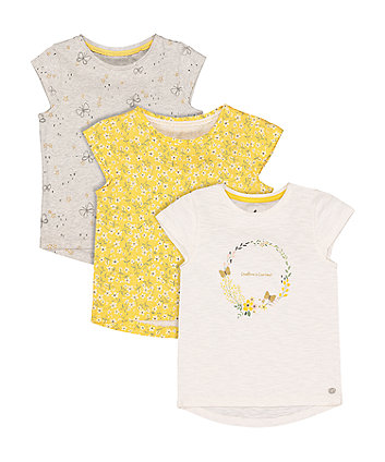 Mothercare Creative And Curious T-Shirts - 3 Pack