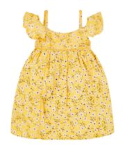 Yellow Floral Bardot Dress