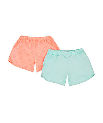 Mothercare Neon Palm Tree Shorts - 2 Pack