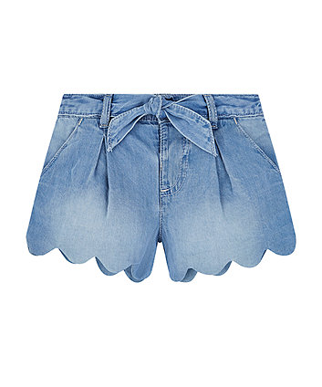 Mothercare Denim Scalloped Shorts