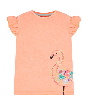 Mothercare Coral Flamingo T-Shirt