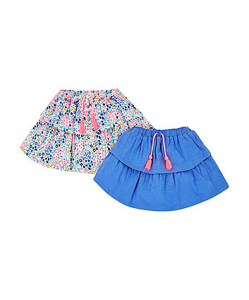 Mothercare Neon Floral Skirts - 2 Pack