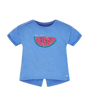 Mothercare Blue Glitter Watermelon T-Shirt