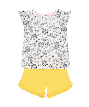 Mothercare Butterfly T-Shirt And Shorts Set