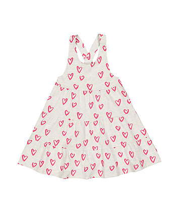 Mothercare Grey Heart Tiered Dress