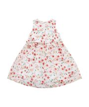 Mothercare Dress with Floral Pattern - White and Red