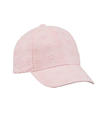 Pink Broderie Cap