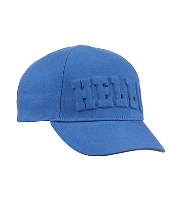 Hello Slogan Cap