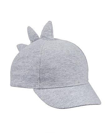Mothercare Grey Jersey Dino Cap