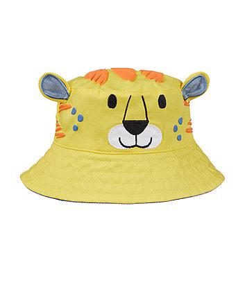Mothercare Yellow Tiger Fisherman Sun Hat