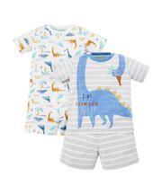 Dinosaur Slumber Party Shortie Pyjamas - 2 Pack
