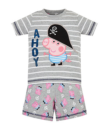 Mothercare George Pig Pirate Shortie Pyjamas