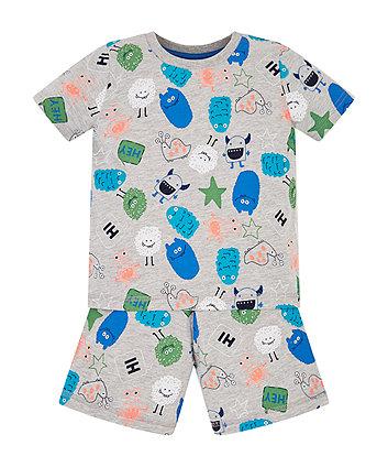 Monster Shortie Pyjamas