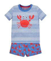 Mothercare Crab Shortie Pyjamas