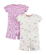 Unicorn Shortie Pyjamas - 2 Pack