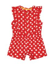 Red Polka Dot Playsuit