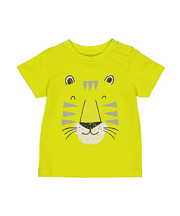 Mothercare Lime Tiger T-Shirt