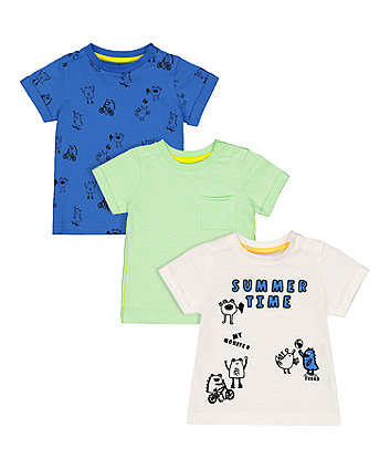 Mothercare Monster Squad T-Shirts - 3 Pack