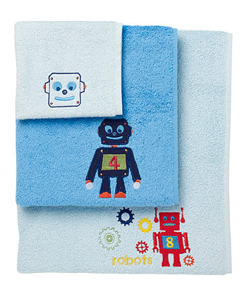 Mothercare Robots Towel Bale - Blue 3 Pack