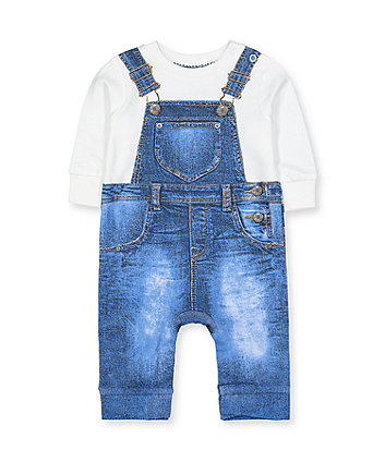 Mothercare Denim Dungarees Tromp DOleil All In One