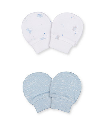 Mothercare Stripe Mittens - 2 Pack