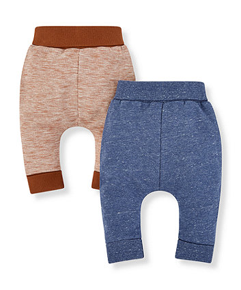 Mothercare Blue And Brown Joggers - 2 Pack