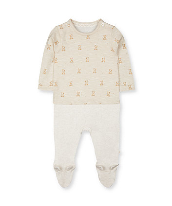 Mothercare Teddy Bear Mock All In One